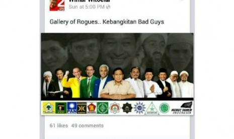 Capture akun Facebook Wimar Witoelar
