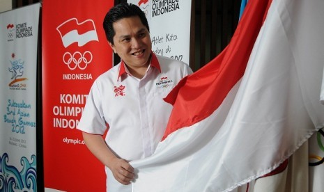 Chef de Mission Kontingen Indonesia untuk Olimpiade London 2012, Erick Thohir.
