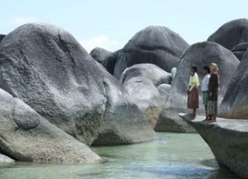 Cuplikan adegan Laskar Pelangi dengan seting Bangka Belitung