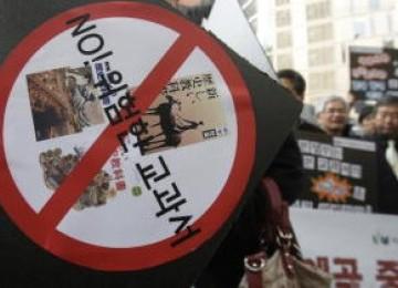 demo anti-Jepang di Seoul