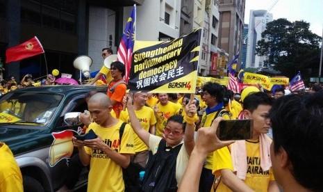 Demo warga Kuala Lumpur untuk turunkan PM Najib Rajak