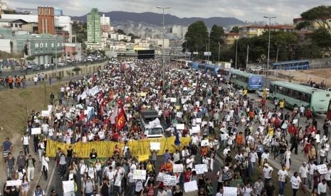 Demonstrasi di Brasil.