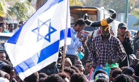 demonstrasi imigran afrika di Israel
