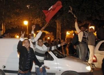 Demonstrasi yang berakhir rusuh di Tunisia