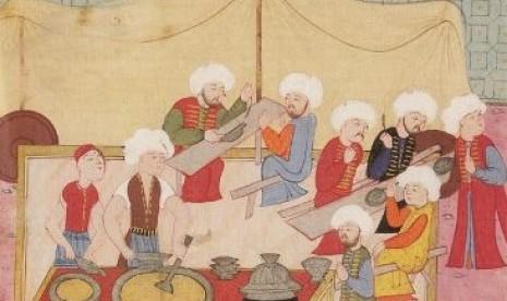 Dokumentasi penyiapan takjil pada era Ottoman