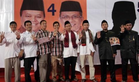 Empat 'cagub' dukung Hidayat Nurwahid jadi Gubernur DKI Jakarta.