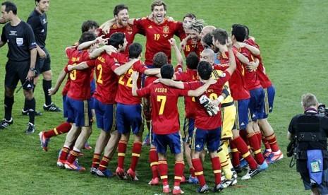 Euforia timnas Spanyol