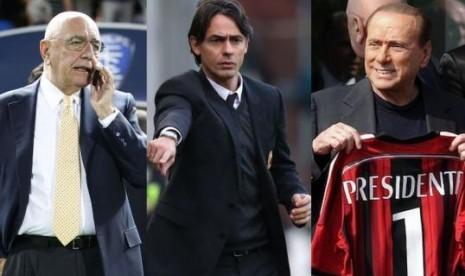 Galliani, Inzaghi, dan Berlusconi