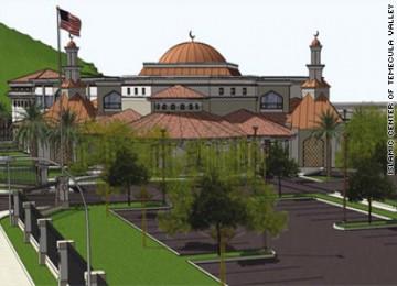 Gambar proyek masjid di Temecula, California, yang ditentang warga lokal namun didukung ADL