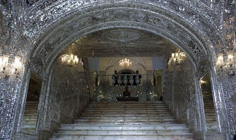 Gerbang Istana Golestan di Teheran, Iran.