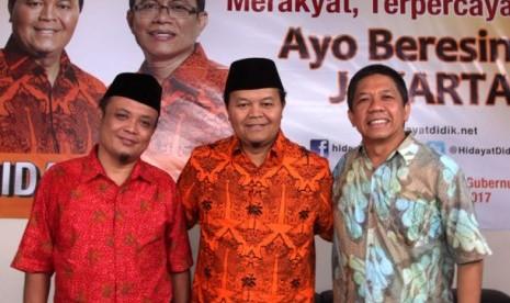 Hidayat Nurwahid bersama fendi Gozali dan Ainut