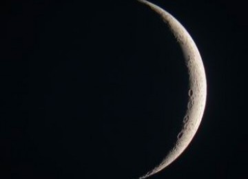 Hilal atau bulan muda (ilustrasi)