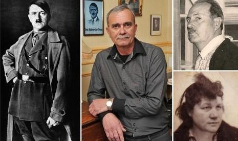 Foto's van Hitler , zon , kleinzoon , en de moeder van zijn zoon