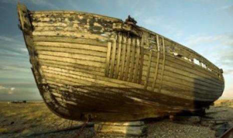 Ilustrasi kapal yang ditumpangi Nabi Nuh AS dan pengikutnya
