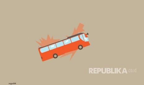 2 Pejalan Kaki Tewas Ditabrak Bus Pariwisata di Kawasan Ciwidey