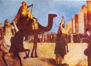 Ilustrasi ketika Umar bin Al-Khathab menaklukkan Yerusalem.