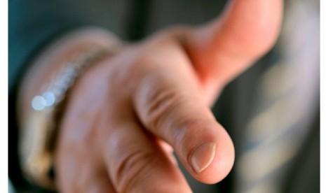 Jabat tangan. Ilustrasi