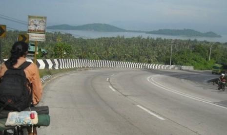 Jalur Mudik di Wilayah Lampung Tengah Diaspal Ulang