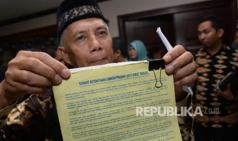 In Picture: Pihak First Travel Mangkir dari Mediasi dengan Jamaah yang Digelar Kemenag