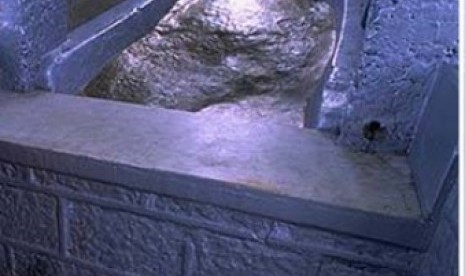 Jejak ini diklaim bekas telapak kaki Nabi Adam AS di Srilanka