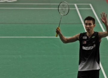 Juara Indonesia Open 2011 Super Series Lee Chong Wei asal Malaysia