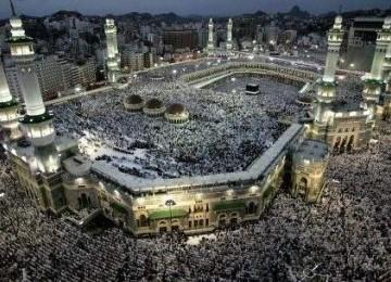 Ka'bah di Masjidil Haram Makkah, kiblat umat Islam.