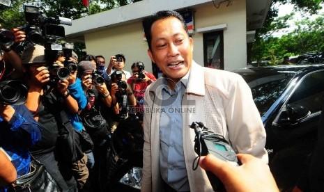 Kabareskrim Polri Irjen Budi Waseso memenuhi panggilan Komisi Nasional Hak Asasi Manusia (Komnas HAM), Jakarta, Jumat (30/1).  (Republika/Agung Supriyanto)
