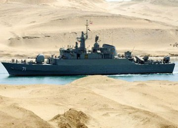 Iran Pamerkan Dua Kapal Tempurnya