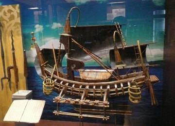 Kapal armada laut Kerajaan Majapahit, ilustrasi