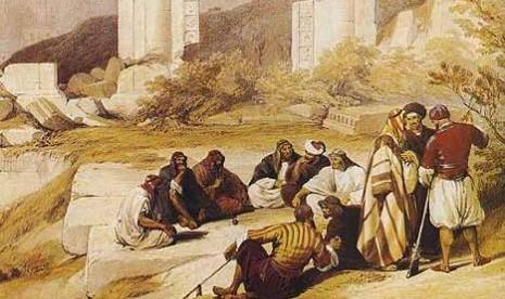 Kaum Nabi Nuh (ilustrasi).