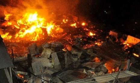 Kebakaran di Kelapa Gading Jakarta Utara