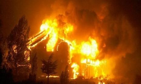 Kebakaran di Salt Lake City yang bermula dari kebakaran semak, dipicu percikan api senjata api