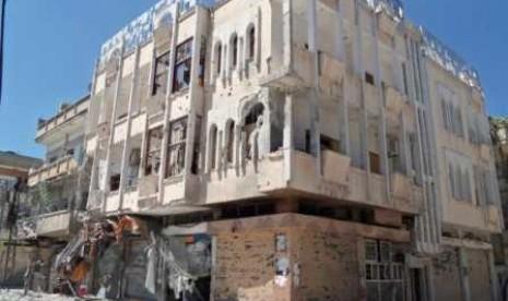 Kekerasan di kota Homs, Suriah.