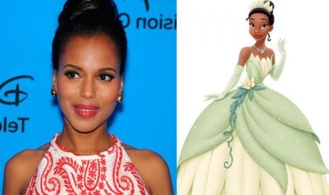 Kerry Washington, seleb mirip tokoh Disney Putri Kodok