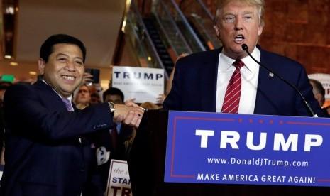 Ketua DPR Setya Novanto bertemu kandidat capres Partai Republik AS Donald Trump.