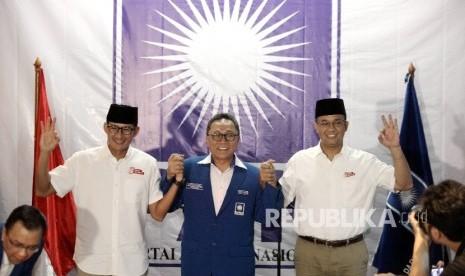In Picture: PAN Resmi Dukung Anies-Sandi