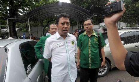 Ketua Umum PPP versi muktamar PPP Surabaya, Jawa Timur, Romahurmuziy.