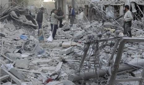 Konflik masih melanda Suriah (ilustrasi)