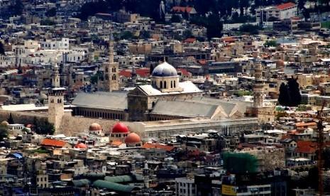 Kota Damaskus, Suriah, pusat kekuasaan Dinasti Umayyah.