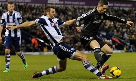 Laga antara West Brom melawan Chelsea di Liga Primer Inggris.