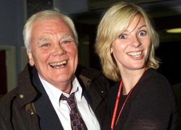 Lauren Booth bersama sang ayah