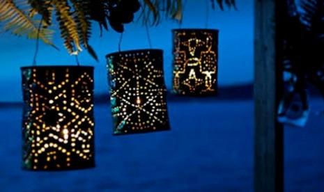 Lentara Lilin dari kaleng-kaleng bekas