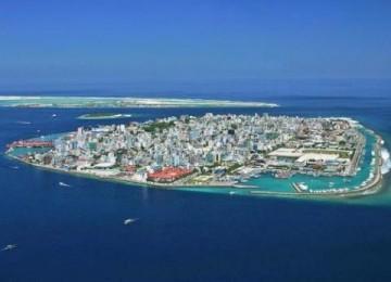 Male, ibukota Kepulauan Maladewa, salah satu tujuan wisata yang terletak di Samudera Hindia.