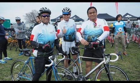 In Picture:  Ikuti Tur Sepeda di Jepang, Saleh Husin dan Rachmat Gobel Promosi Investasi dan Wisata Indonesia