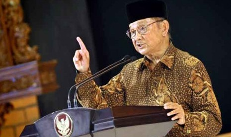 Mantan Presiden Bacharuddin Jusuf Habibie
