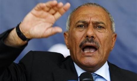 Mantan presiden Yaman Ali Abdullah Saleh.