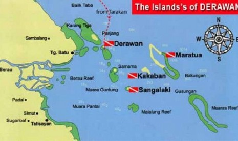 Map of Derawan