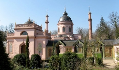 Masjid schwetzingen jerman, arsitektur gaya oriental (2)