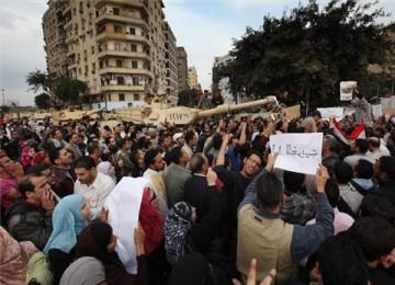 Massa mulai berkumul di Kairo