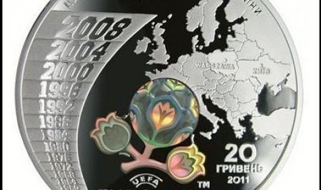 Uang koin Piala Eropa 2012.